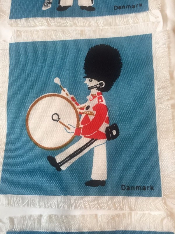 Vtg 6 Cocktail Napkins Royal Guard Marching Band Denmark Aase Preben Jangaard