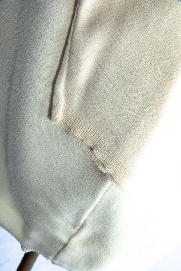 Women's J Peterman Company Beige Top Sweater 100% Cotton Preowned Ex Cond L