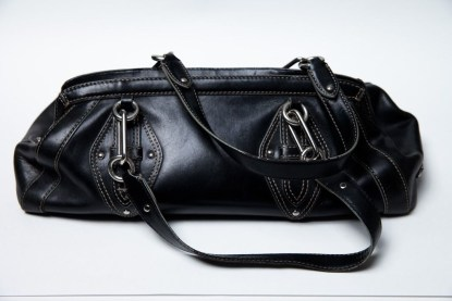 Women's Cole Haan Trinity Handbag Black Leather Preowned Great Condition
