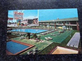Vtg Postcard Unposted Wolfie's Ramada Inn On The Ocean At Cape Kennedy Florida