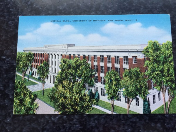 Vintage Postcard Uncirculated Unposted MEDICAL BLDG., UNIVERSITY OF MICHIGAN