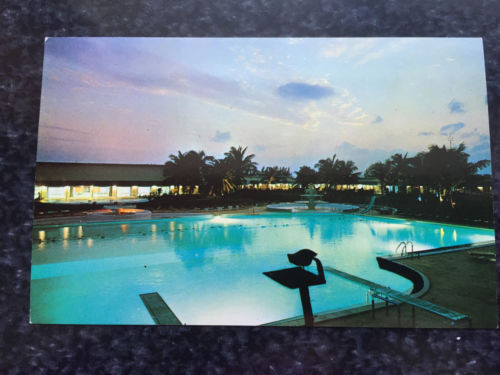Vtg  Postcard Unposted Jac Tar Hotel GRAND BAHAMA HOTEL & COUNTRY CLUB Island