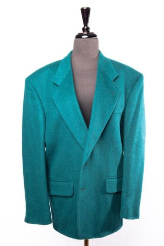 df3a0fa54 Men's BACHRACH Dark Teal Sports Coat Jacket 40 Short Columbia NWOT Wool  Cashmere