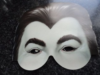 """Nick At Night Halloween Paper Mask Dracula """"Some Really Scary Ideas"""" Classic TV"""