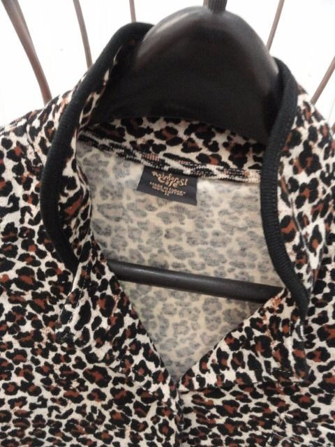 Women's Rainforest Cafe Leopard Print Top Blouse 100% Cotton Medium NWOT