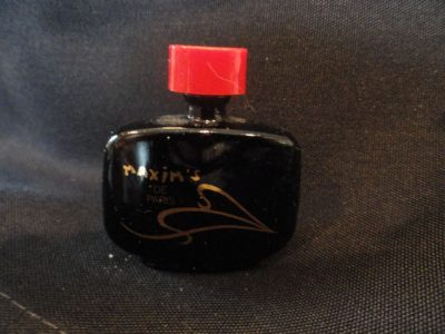 Vintage Micro Mini Perfume MAXIM'S DE PARIS Mini On Back: PARFUM 14 FL OZ