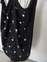 Vtg 1970's VALENTINO COUTURE Scarf All  Silk Black Beige Gray Polka Dot Italy