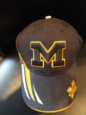 "University Of Michigan FAN FAVORITE Baseball Cap Hat NWOT Adjustable ""M"" Logo"
