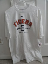 Detroit Tigers MLB EST. 1901 T-Shirt Majestic Size XL Genuine Merchanise NWT