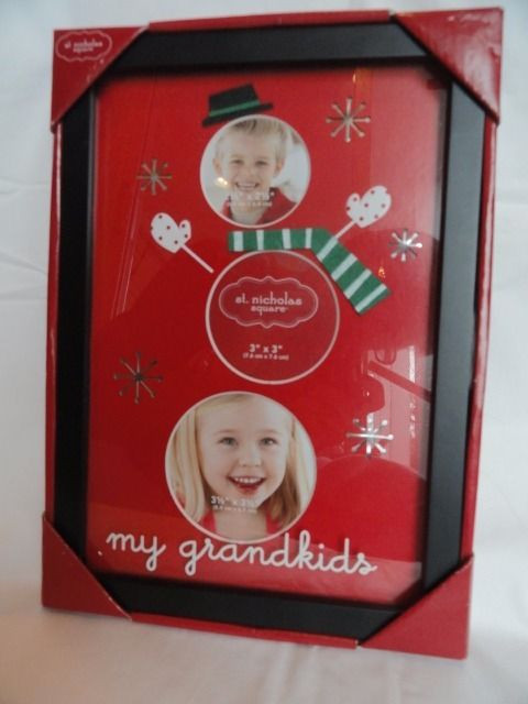 Holiday St. Nicholas Square My Grandkids Picture Frame For 3 Circular Photo New