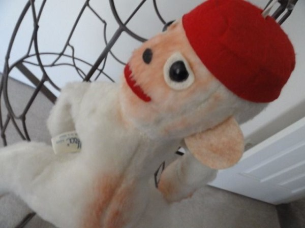 "Vintage 1960's Monkey Elka Toys With A Red Hat New York 16"" Preowned Great Cond"