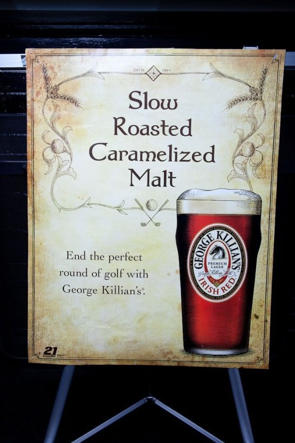 Slow Roasted Carmalized Malt George Killians Irish Red Advertisement Poster 2008