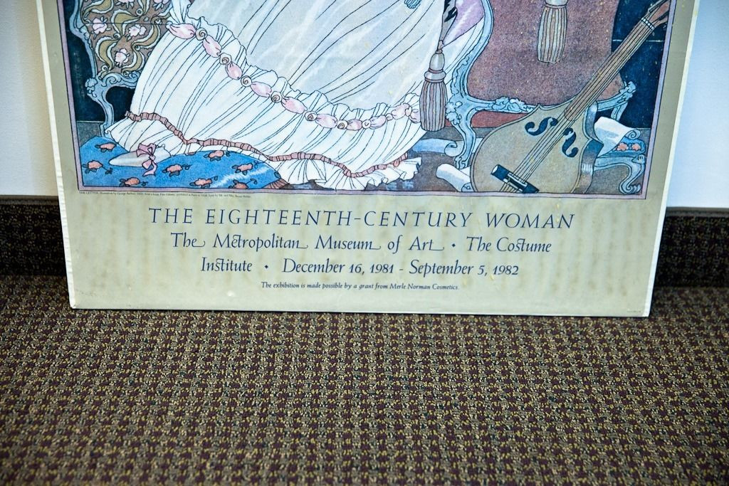 Posters Met Letter : The eighteenth century woman poster the letter george barbier met