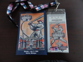 MLB 2005 ALL STAR WORKOUT DAY HOME RUN Ticket & Score Card  Comerica Park