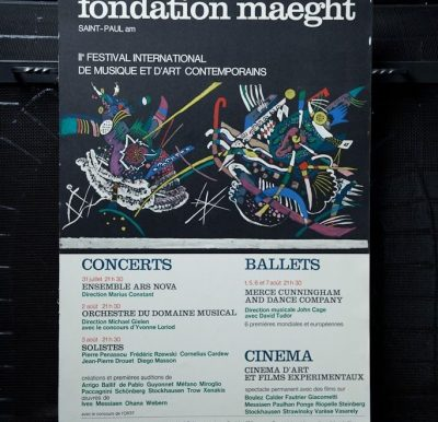 NUITS DE LA FONDATION MAEGHT Poster 1966 Kandinsky Saint Paul De Vence France