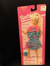 Barbie Great Weekend Fashions 1993 Mattel # 68014 NIP Blouse Skirt Shoes Hanger