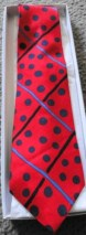 Men's Tie by Perry Ellis NWOT 100% Imported Italian Silk Made in USA Red