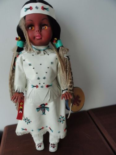 "Vintage Carlson Navajo Doll #18-12 Handcrafted 17"" Made In USA Native NWT"