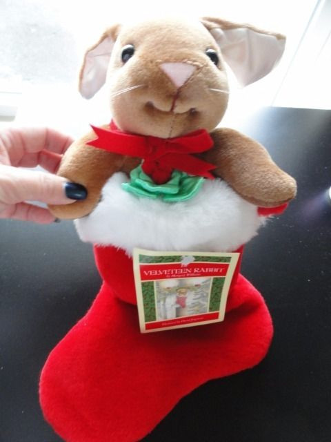 Vintage 1985 The Velveteen Rabbit Christmas Stocking Stuffed Animal