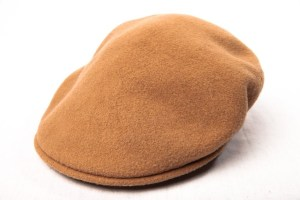 Vintage Men's Beige KANGOL CAP Made In England Design 100% Pure Virgin Wool