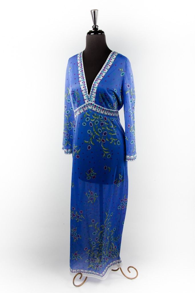 Vintage Womens Emilio Pucci For Fomfit Rogers Night Gown Saks Fifth