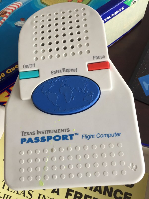 Vtg 1991 Electronic PASSPORT Texas Instruments Talking Game Of World Adventure