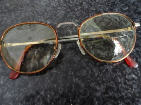 Vintage Round POLO Eyeglasses Bronze Shade Metal POLO CLASSIC Clear Nose Pads