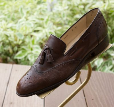 Vtg Men's NETTLETON Tassel Brown Leather Loafer Shoe Size 8 M Slip On