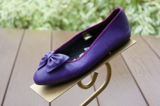 Vtg Women's GITANO Purple Lavender Flats Shoes With Purple Bow 6M NWOT