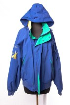 Men's NAUTICA CHALLENGE Jacket Tuck A Way Hood Sailing Yachting Size L Preowned