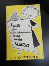 Vtg Cookbook Pamphlet Facts About Body Fat, Calories, Food & Losing Weight 1960