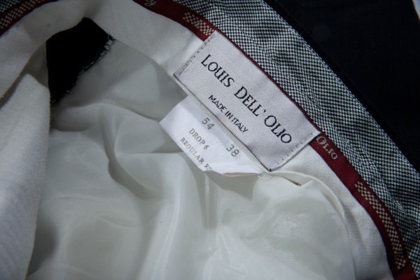 Vtg Louis Dell 'Olio Black Dress Pants Made In Italy  38/36 Preowned Ex Cond