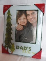 Christmas DAD'S Little One Picture Frame 4 x 6 Pine Tree Kohl's Holiday Glass