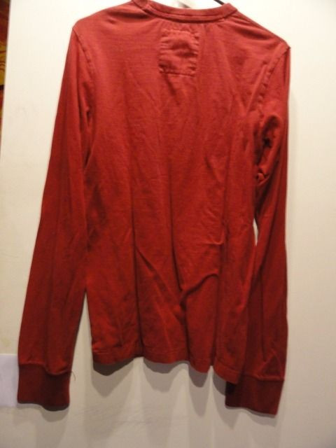 Men's HOLLISTER CALIFORNIA Red Long Sleeve Shirt PACIFIC HCO Medium DEL MAR