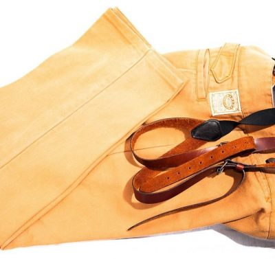Men's WAH Maker Pants Leather Suspenders Yuma ARIZ West Outfitter USA 38 NWOT