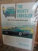 Vintage 1957 Advertisement The Mighty Chrysler Torsion-Aire Ride General Tires