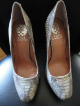 """Women's VINCE CAMUTO Shoes Silver Gray Size 4B 5"""" Spike Heels 1"""" Platform NWOB"""