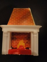 "Vintage 1960's Doll House Furniture Fireplace ""E"" Plastic Cardboard Ex Cond"