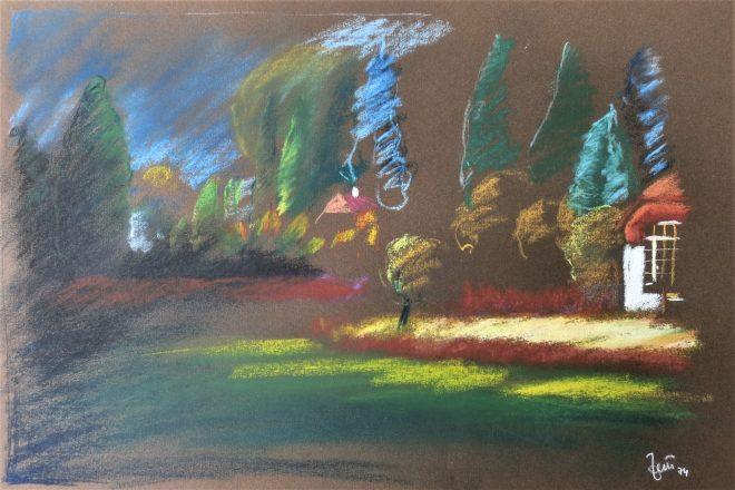 pastels by friedrich zettl wienerwald