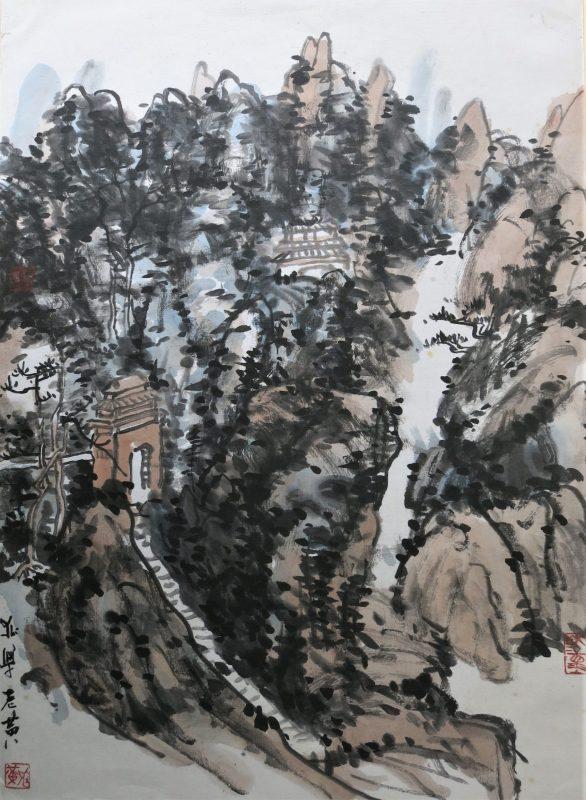 landscape after huang binhong by friedrich zettl