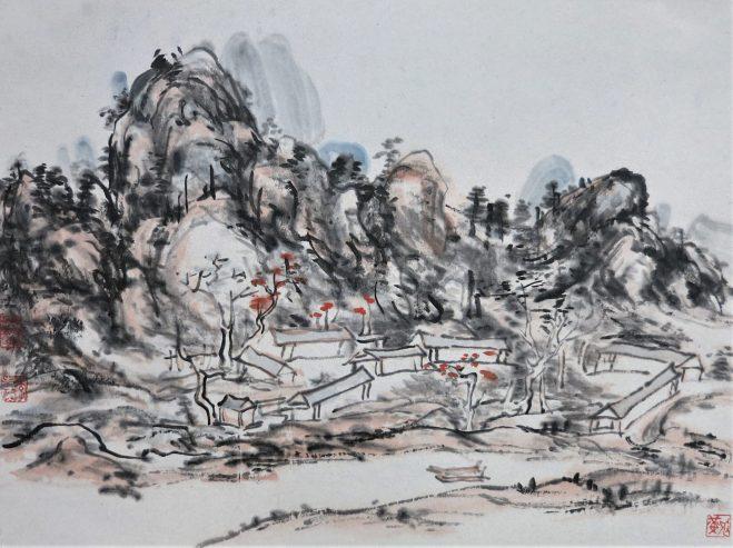 landscape painting after Huang Binhong 黄宾虹