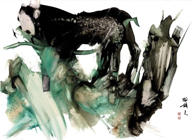 gestural painting titled beast