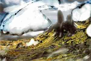 landscape after Brecht poem Reminiscence of Marie A.
