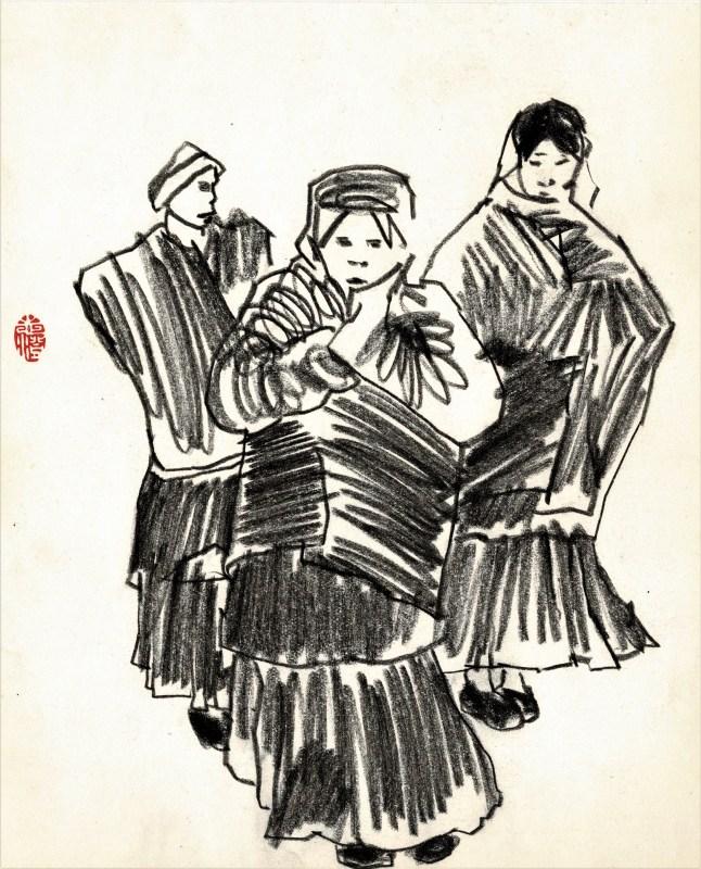 Friedrich Zettl early sketchbook3 ladies