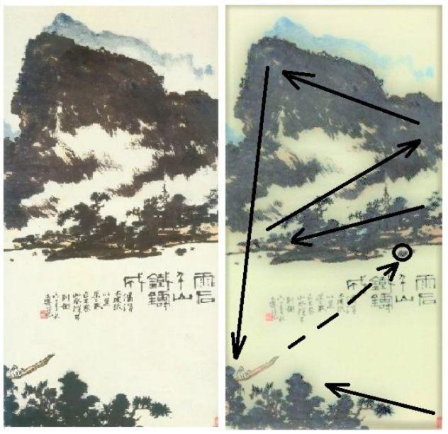 landscape painting by Pan Tianshou