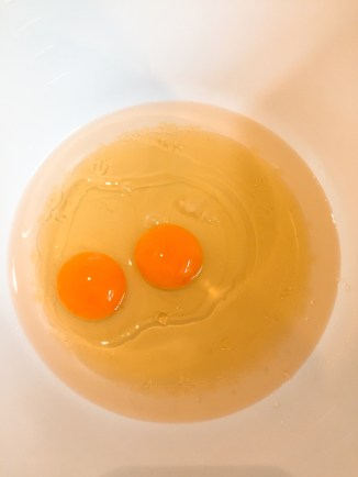The eggs quivering before they get beat up