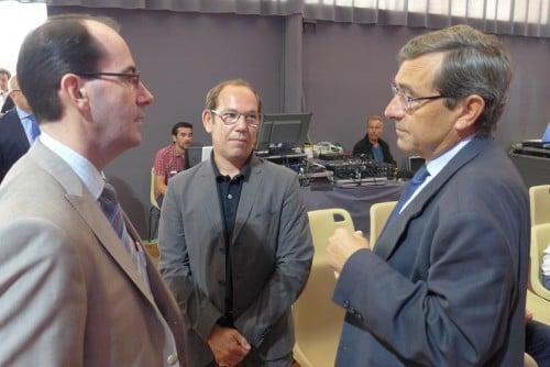 Jean-Christophe Brochet (GDF-Suez IT), Jean-François Rio (Fil AFP-Liaisons sociales) et Francis Bergeron (SGS Group)