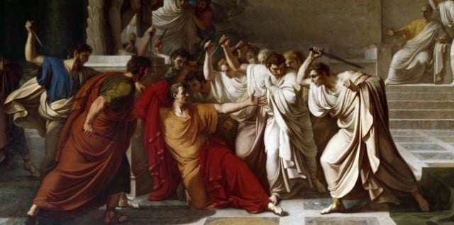 Assassinat de Jules Cesar, tableau de Camuccini