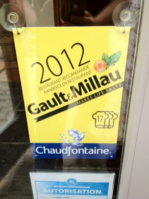 Le Coq aux Champs, un 17 sur 20 dans le Gault Millau