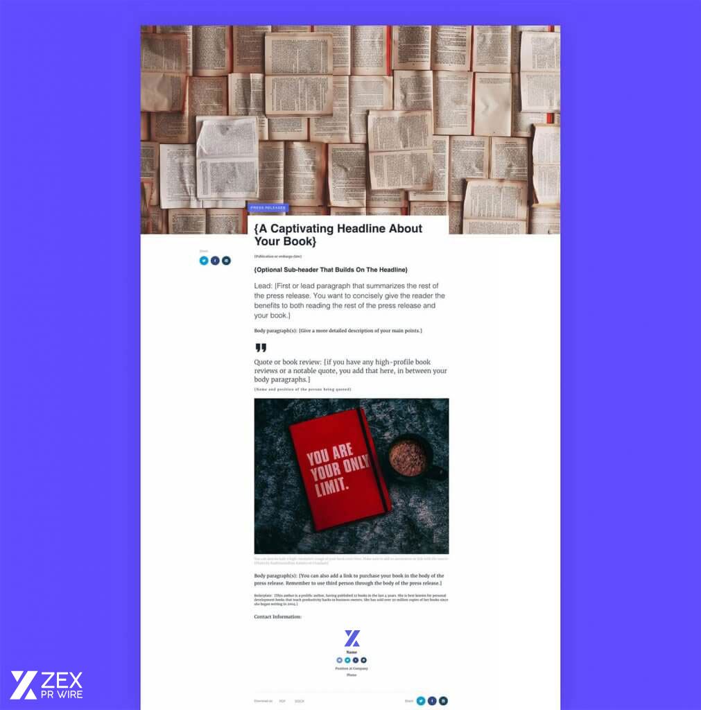 Your band's press release is often your first introduction to writers, tastemakers, and the music industry at large. Press Release Templates Zex Pr Wire
